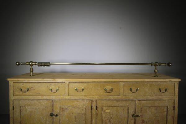 19th Century Antique Brass Range Pole or Curtain Pole | Miles Griffiths Antiques