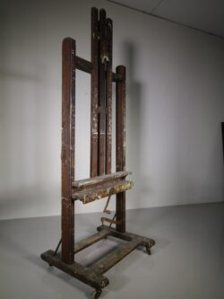 Large English 19th Cent Antique Oak Artists Easel