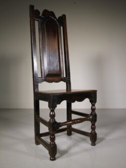 Early 18th Century Antique Period Oak Side Chair