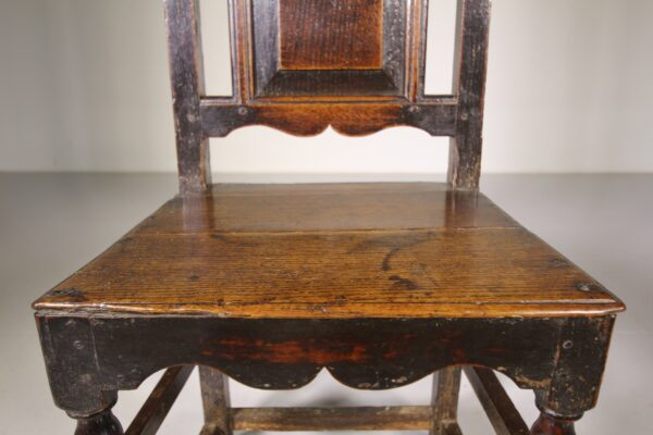 Early 18th Century Antique Period Oak Side Chair   Miles Griffiths Antiques