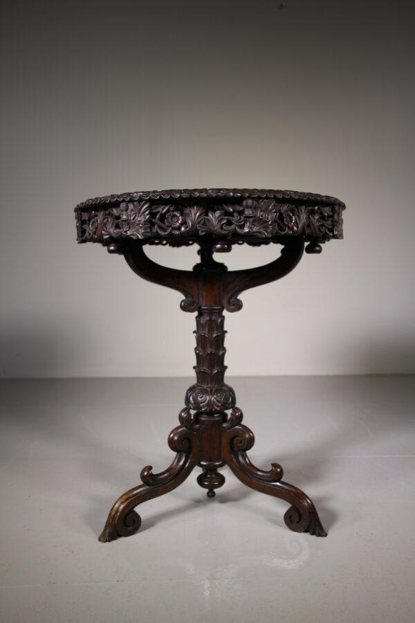 Superb Antique Oak Tripod Table - Lazy Susan Top | Miles Griffiths Antiques