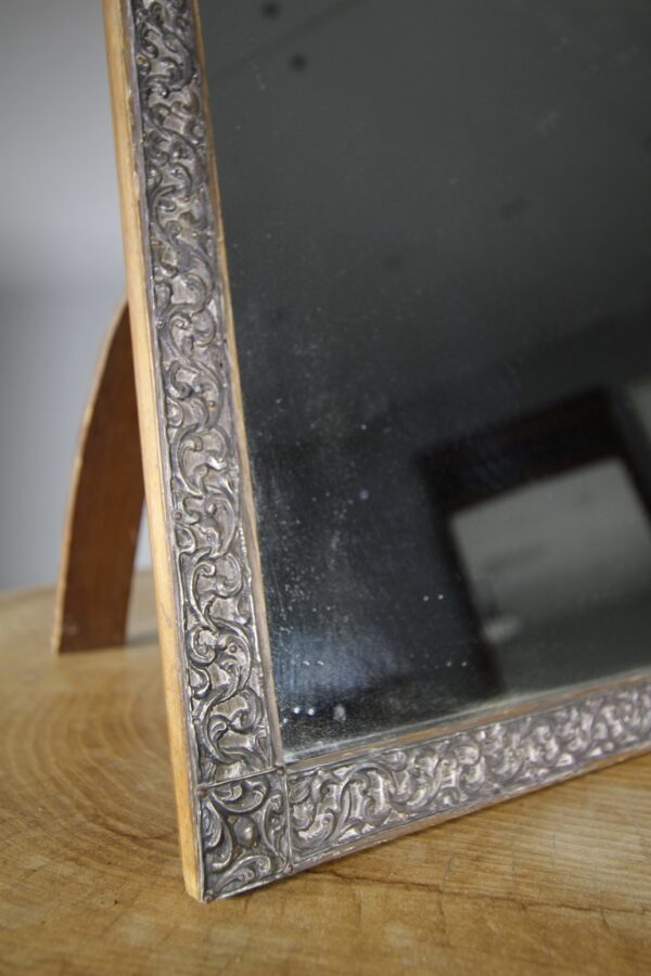 19th Century Silver Framed Antique Mirror | Miles Griffiths Antiques