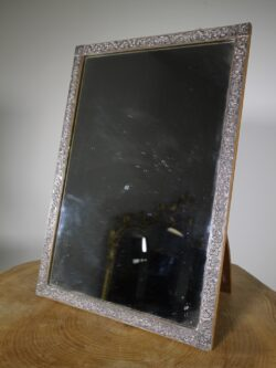 19th Century Silver Framed Antique Mirror