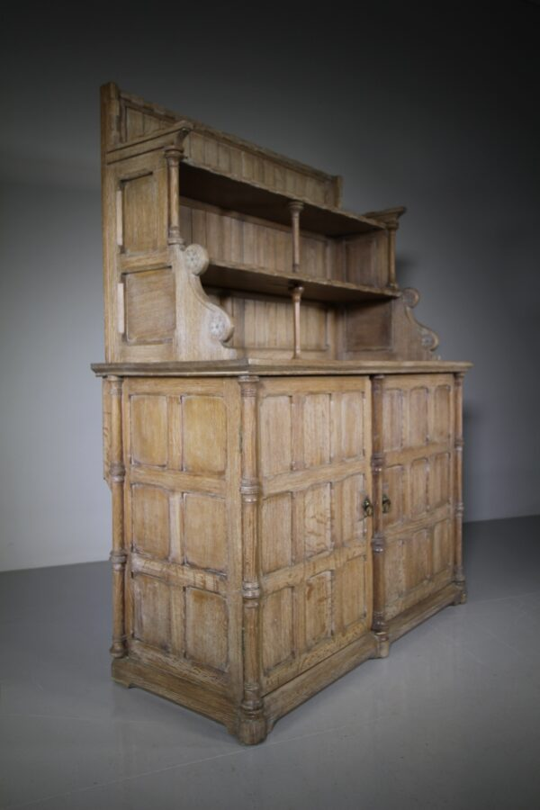 Rare 19th Century Antique Oak Chiffonier by Henry Woodyer | Miles Griffiths Antiques
