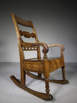 19th Century Scottish Antique Country Armchair