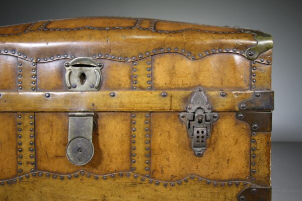 19th Century English Antique Travelling Trunk Dated 1884   Miles Griffiths Antiques