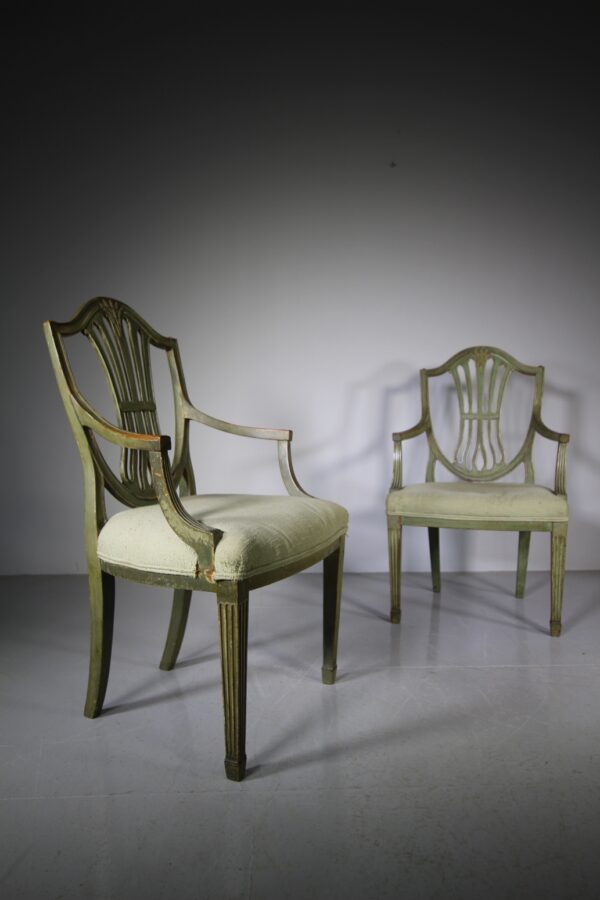 Pair of Early 19th Century Antique Hepplewhite Armchairs | Miles Griffiths Antiques