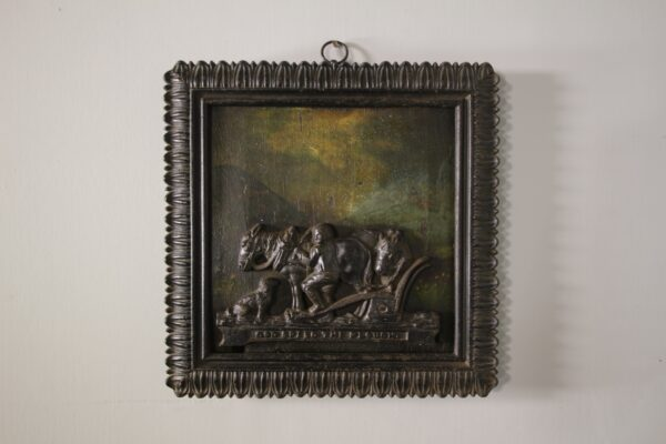 Early 19th Century Antique Wall Plaque, in Paint & Iron | Miles Griffiths Antiques