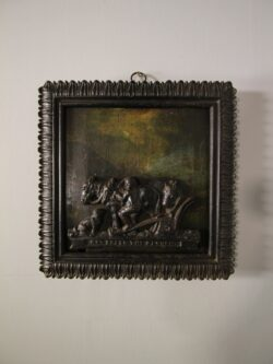 Early 19th Century Antique Wall Plaque, in Paint & Iron