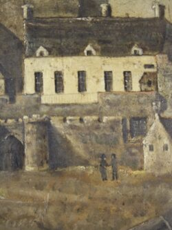 English Naive Antique Painting -Isle of Man Castle Rushen