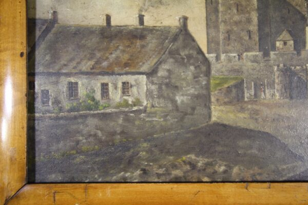 English Naive Antique Painting -Isle of Man Castle Rushen | Miles Griffiths Antiques