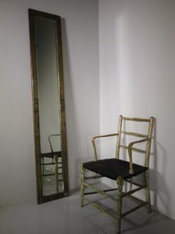 English Edwardian Antique Tall Mirror