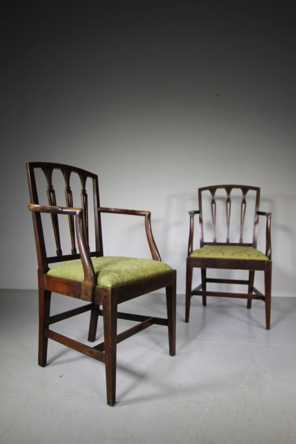 Pair of 18th C Antique Hepplewhite Country Chairs | Miles Griffiths Antiques