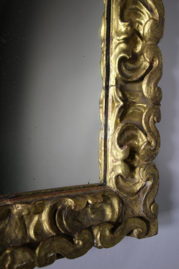 18th Century Carved Pine & Gilt Antique Mirror | Miles Griffiths Antiques