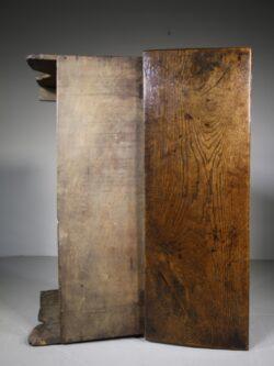Small 17th Century English Antique Transitional Period Oak Coffer