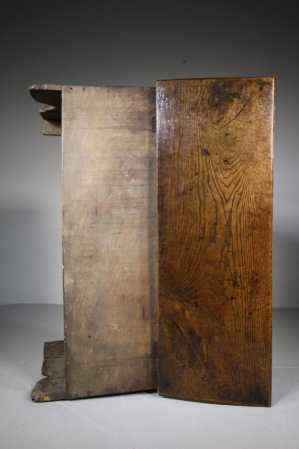 Small 17th Century English Antique Transitional Period Oak Coffer | Miles Griffiths Antiques