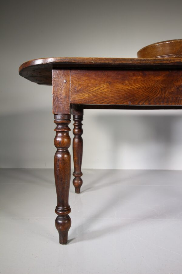 Beautiful Late Georgian Antique Elm Tavern Dining Table | Miles Griffiths Antiques
