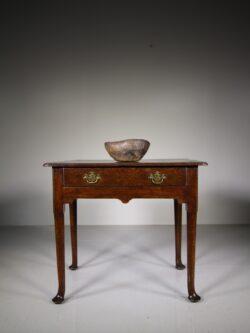 English 18th Century Antique Oak Low Boy Table