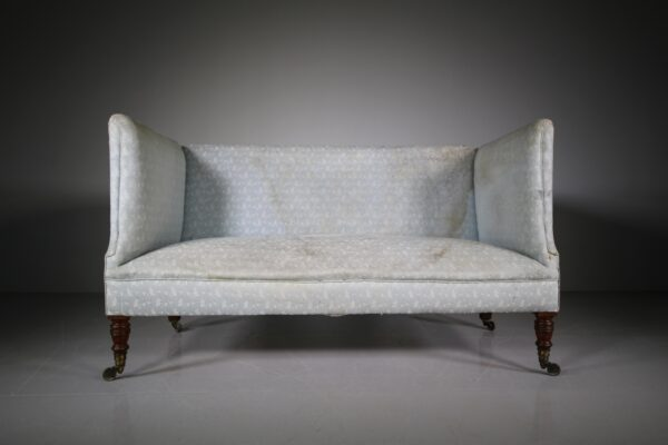 19th Century Antique Howard & Sons Sofa-Labelled | Miles Griffiths Antiques