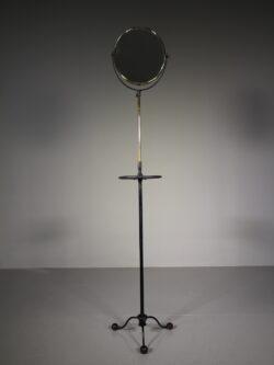 Edwardian Antique Iron & Brass Adjustable Shaving Mirror
