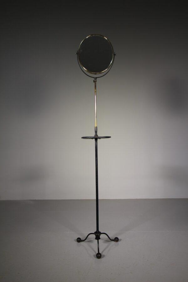 Edwardian Antique Iron & Brass Adjustable Shaving Mirror | Miles Griffiths Antiques