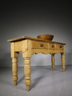 19th Century English Antique Pine Serving Table