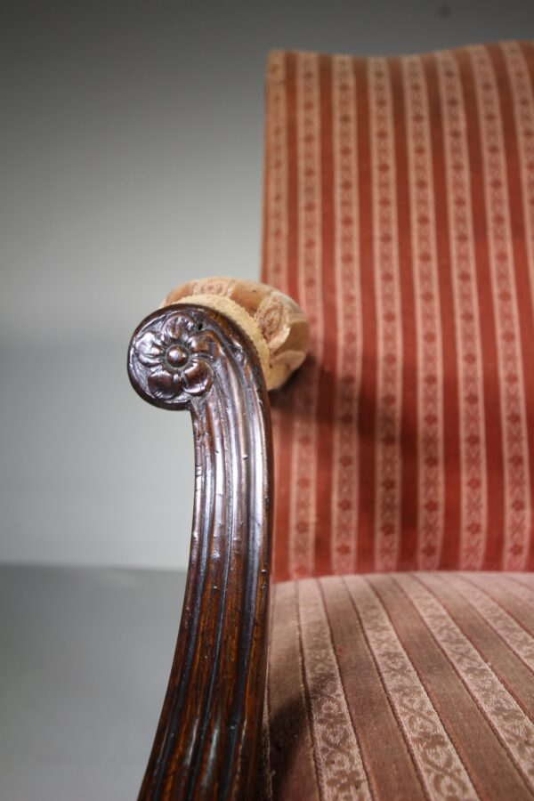 Quality English 19th Century Antique Gainsborough Armchair | Miles Griffiths Antiques