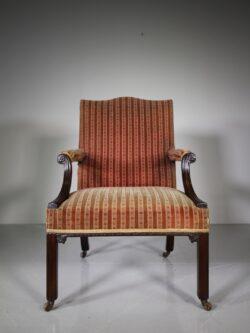 Quality English 19th Century Antique Gainsborough Armchair