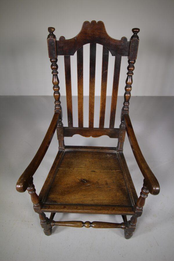 Large 18th Century Antique Period Oak Armchair   Miles Griffiths Antiques