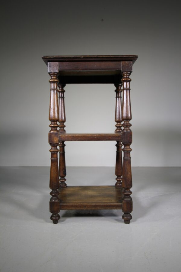 Three Tiered 19th Century Antique Oak Stand | Miles Griffiths Antiques