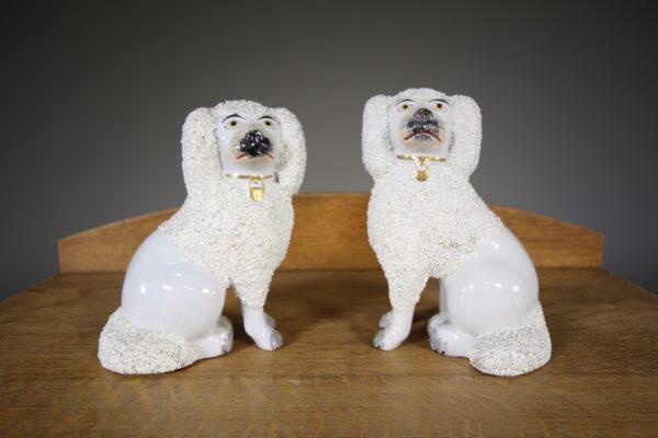 Pair of 19th Century Antique Staffordshire Poodles | Miles Griffiths Antiques