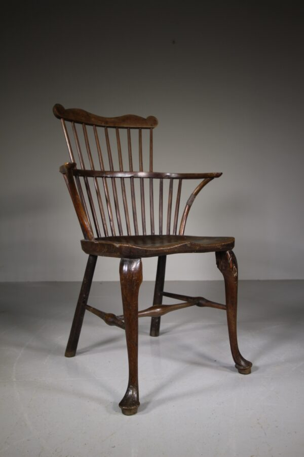 18th C Thames Valley Yew Comb Back Windsor Chair   Miles Griffiths Antiques