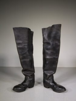 Pair of English 19th Century Antique Postilion Leather Boots