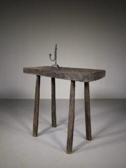 English 19th Century Primitive Antique Side Table