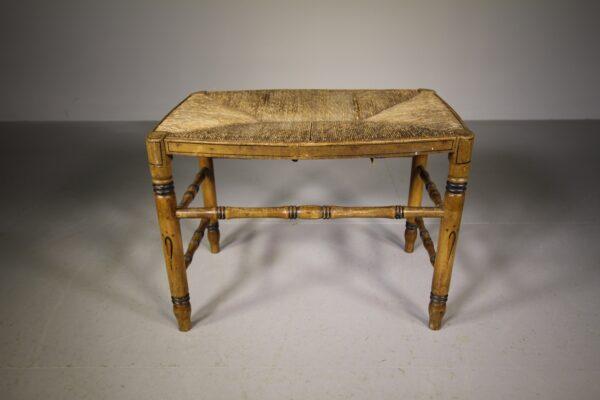 English Regency Original Painted Pine Antique Stool | Miles Griffiths Antiques