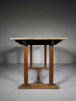 Heals Antique Oak Refectory Dining Table