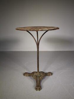 19th Century Cast Iron Round Table