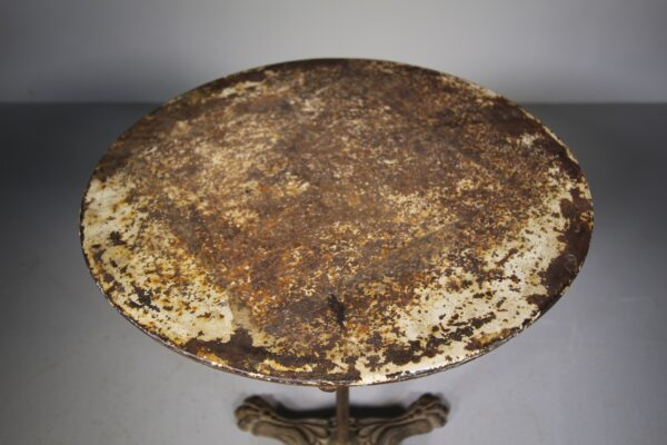 19th Century Cast Iron Round Table   Miles Griffiths Antiques