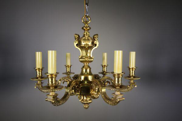 High Quality Antique Gilt Bronze Chandelier | Miles Griffiths Antiques