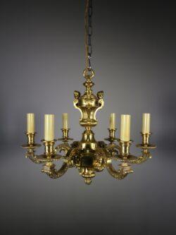 High Quality Antique Gilt Bronze Chandelier