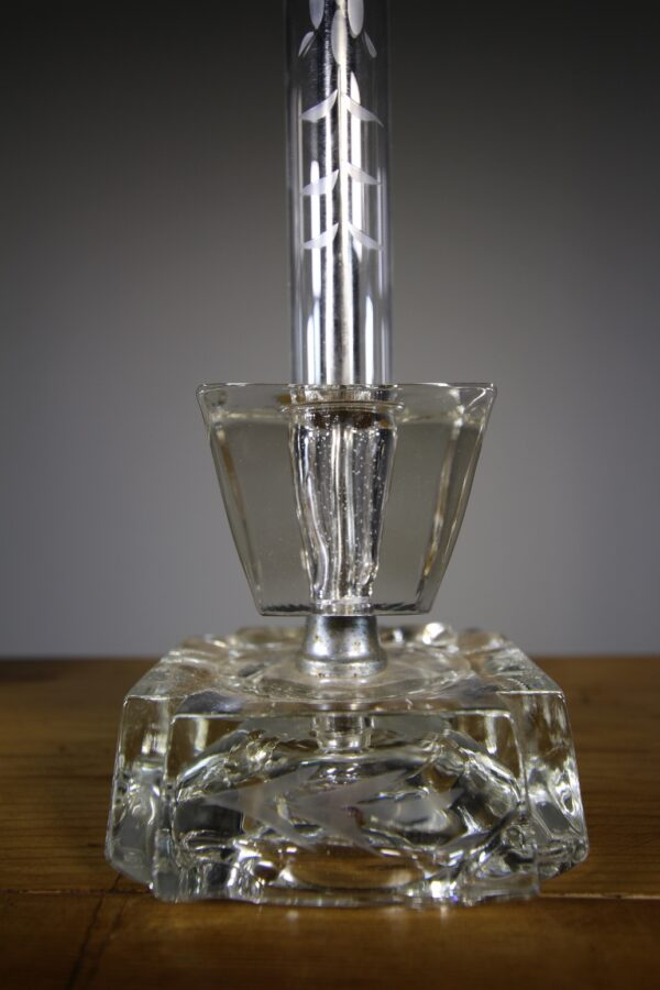 Pair of 1950's Cut Glass Table Lamps - Re-wired   Miles Griffiths Antiques