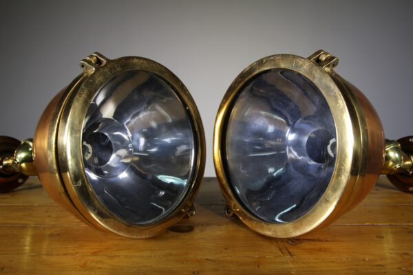 Pair of High Quality English 1920's Ship's Lights | Miles Griffiths Antiques