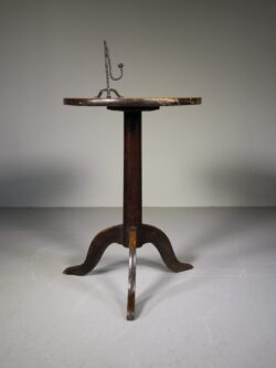 English 18th Century Antique Elm Tripod Table