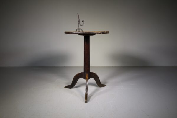 English 18th Century Antique Elm Tripod Table | Miles Griffiths Antiques