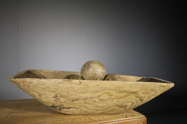 Large Early 19th Century Antique Dug Out Bowl | Miles Griffiths Antiques