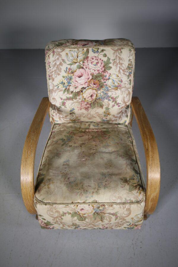 Heals of London 1930's Oak Modernist Armchair | Miles Griffiths Antiques