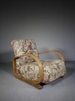 Heals of London 1930's Oak Modernist Armchair