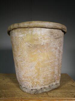 Large Edwardian Antique Skin Cotton Bucket