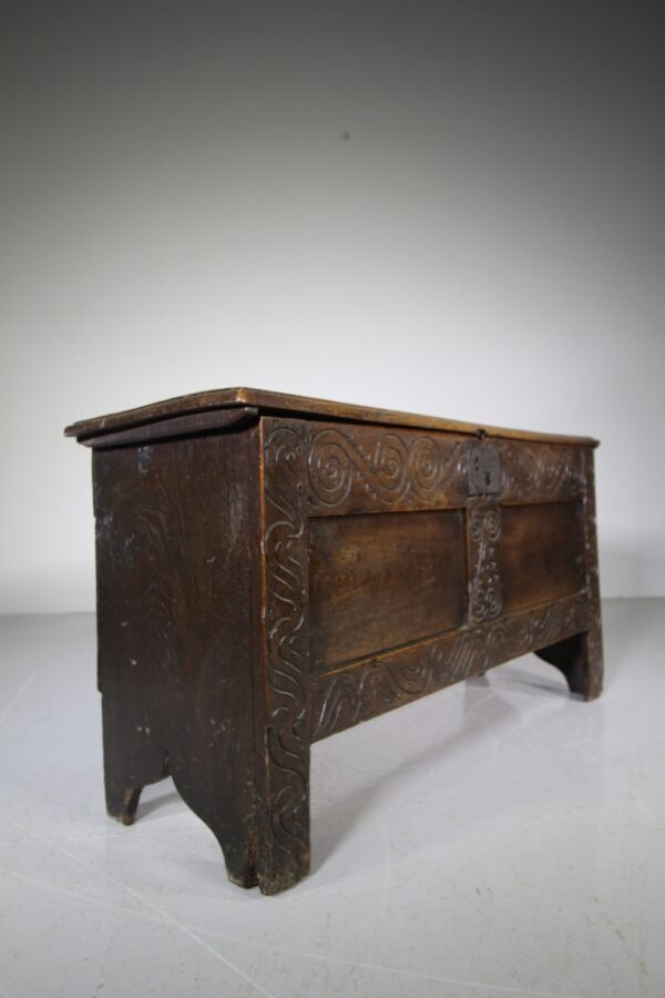 17th Century English Antique Period Oak Coffer | Miles Griffiths Antiques
