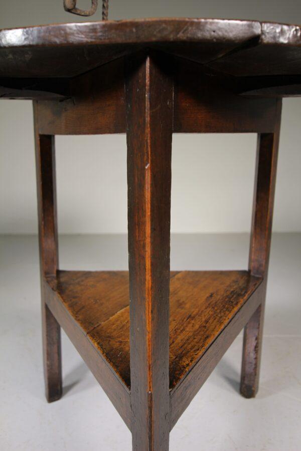 English 18th Century Antique Elm Cricket Table   Miles Griffiths Antiques